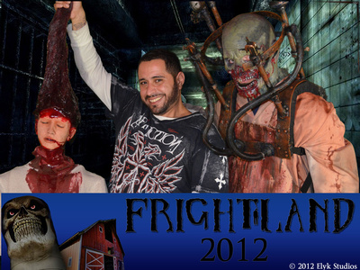 Frightland Haunted Attraction Souvenir Photography in Middletown Delaware. Photography by Elyk Studios Photography.